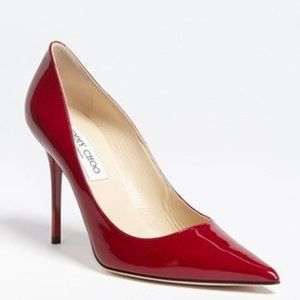 Jimmy Choo Abel Patent Red 38 $525